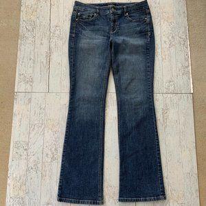 WHBM Blanc Bootleg Jeans 6R Boot Cut Stretch